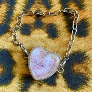 Breast Cancer Chained Bracelet